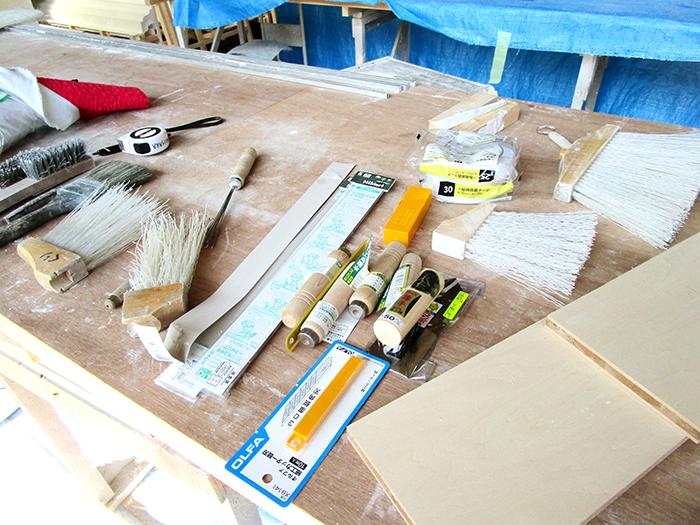 模型作成に使用する道具